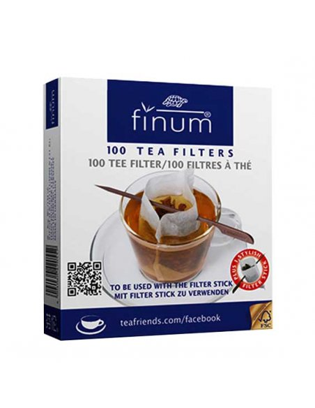 Finum Cup Size Paper Filters with Stick